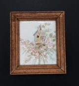 Framed Painting Floral & Bird House