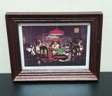 Framed Print, Dogs Playing Poker