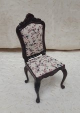 Side Chair w/ Floral Fabric, MH