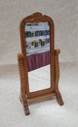 Standing Full Length Mirror, Golden Oak