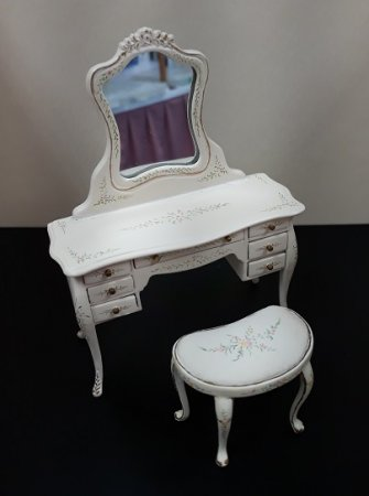 Sweet Times Vanity & Stool, Handpainted