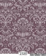 Annabelle Damask, Purple Plum Wallpaper
