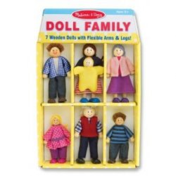Wooden Doll Family of 7