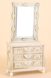 Unfinished Antoinette Console & Mirror