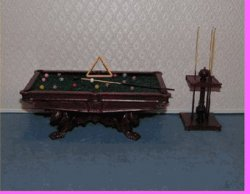 Carved Lion Pool Table Set