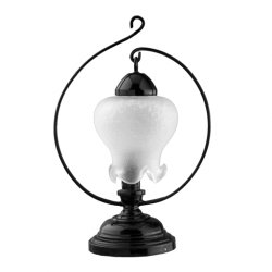Classic Tulip Shaded Black Table Lamp