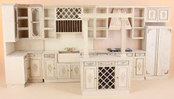 Unfinished French Provencial Kitchen Set/6