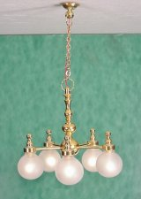 5 Arm Globe Chandelier, LED