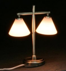 Modern Table Lamp with 2 Down Shades
