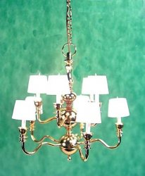 10 Arm 2-Tier Chandelier with Shades