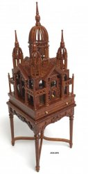 Birdcage on Table, Victorian, Walnut