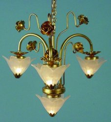 4 Light Art Deco Chandelier
