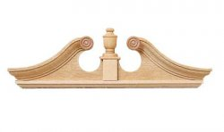 Deerfield Double Door Pediment, 2pc