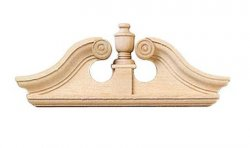 Deerfield Single Door Pediment, 2pc