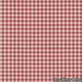 Red & White Plaid Gingham Wallpaper