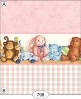 Nursery Friends, Pink Plaid Wallpaper