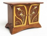 Art Nouveau Side Board, Walnut