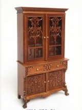 2 Door Display Cabinet, 1760, Walnut