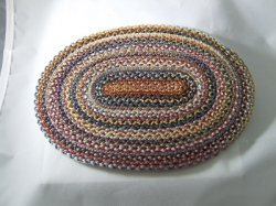 Braided Rug, Oval, Brown & Gold
