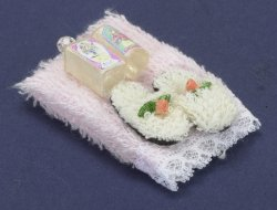 Towel Set w/ Lotion & Slippers, Pink
