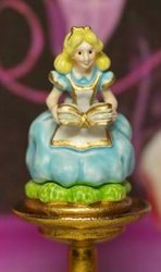 Alice's Book Figurine