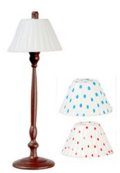 High Wood Lamp w/ 3 Shades