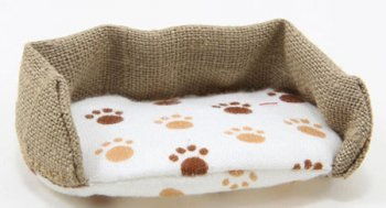 Dog Bed, Burlap, Large
