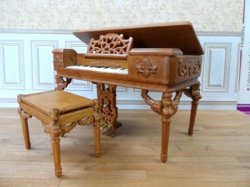 """Petit Chateau"" Grand Box Piano and Bench"