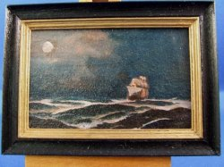 """By Moonlight"" Framed Painting"