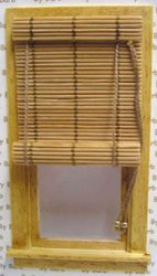 Bamboo Roll Up Shade for Windows