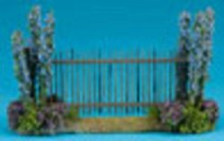 Fence with Blue Flowers