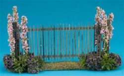 Fence with Pink Flowers