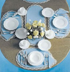 Dishes & Silverware, 4pc Set Kit