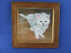 """Wet Kitty"" Framed Painting"