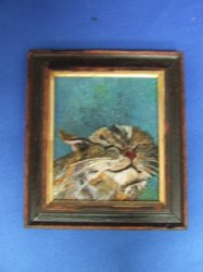 """Sooo Good"" Kitty Framed Painting"