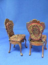 Chair, Victorian with Antique Jacquard Seats
