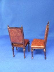 English Library Chairs, pair