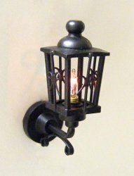 Coach Lamp, Ornate Flat Black
