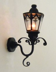Black Gothic Coach Lamp