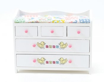Changing Table, White w/ ABC