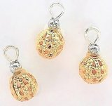Gold Filigree Ornaments, 3pc