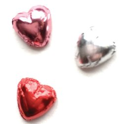 Dollhouse Miniature Valentine Foil Covered Candy Hearts Set of 3 CLD6131