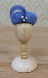 Felt Pill Box Hat, Blue