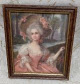 Framed Print, Victorian Lady