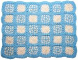 Granny Square Afghan, Blue