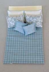 Double Comforter Set, Blue/Toile