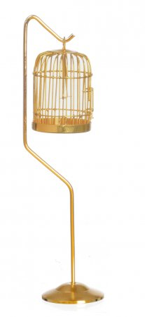 Brass Bird Cage with Stand