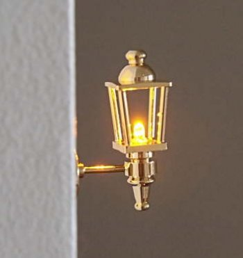 Brass Coach Lamp Battery/LED