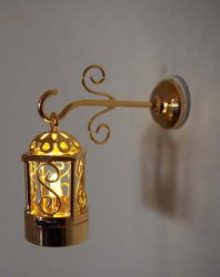 Brass Coach Lamp Hanging, 2pc
