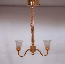 2 Arm Colony Chandelier Battery/LED